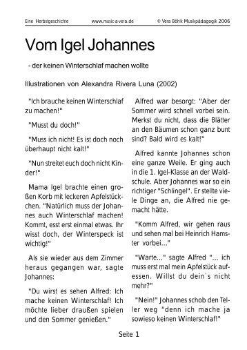 Die Geschichte als PDF-Download - Vera Böhlk, Musikpädagogik