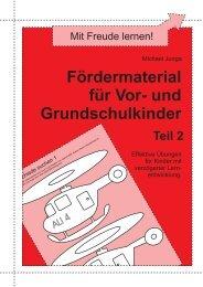 Fördermaterial für Vor- und Grundschulkinder, Teil 2 - Matobe-Verlag
