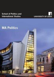 Politics:Layout 1 - School of Politics International Studies - University ...