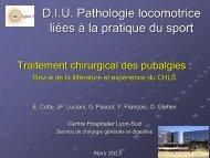 Traitement chirurgical des pubalgies - E. Cotte - Service de ...