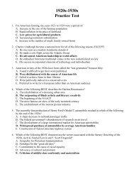 Unit 8 Practice Test Key