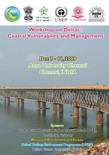 Workshop on Deltas - ENVIS Center for Coastal Zone Management ...