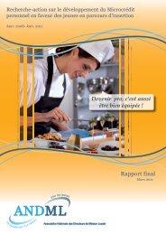 Rapport final de la recherche-action 2008/ 2011 - ANDML