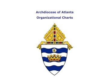 Archdiocese of Atlanta Organizational Charts