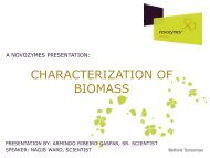 CHARACTERIZATION OF BIOMASS - Novozymes