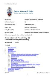 Collision Recording and Reporting - Devon & Cornwall Police