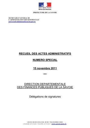 15 novembre 2011 - 0,13 Mb - Préfecture de la Savoie