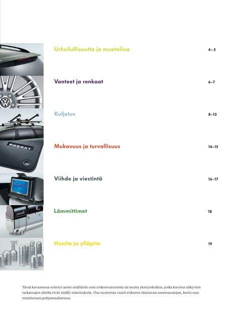 Aidosti Passat. Passat ja Passat Variant –lisävarusteet. - Volkswagen