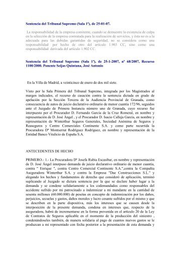 Sentencia del Tribunal Supremo (Sala 1ª) - Asociación Española de ...