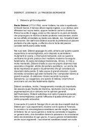 LESSING E TRAGEDIA BORGHESE - Dipartimento di Storia dell ...