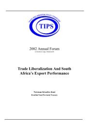 Trade Liberalization And South Africa's Export Performance - tips