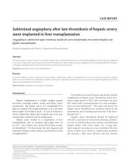 Subintimal angioplasty after late thrombosis of hepatic artery stent ...