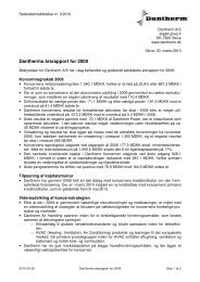 Dantherms årsrapport for 2009