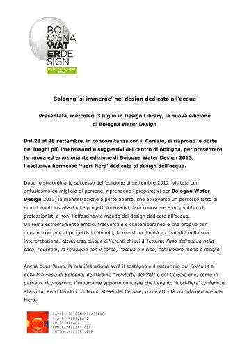 c. s. bwd 2013 – 3 luglio - Bologna Water Design 2013