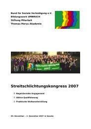 Streitschlichtungskongress 2007