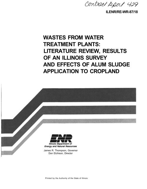 literature review of water treatment