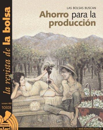 Octubre 03 - Bolsa de Comercio de Mendoza