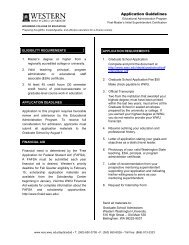 Application Guidelines - Woodring College of Education - Western ...