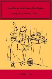 Goodness Gracious, Miss Agnes - Newfound Press - The University ...