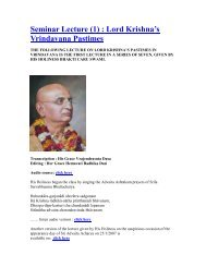 Seminar on Lord Krishna's Vrindavana Pastimes-01 - ebooks ...