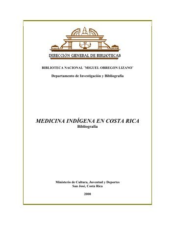 MEDICINA INDÍGENA EN COSTA RICA - Sinabi