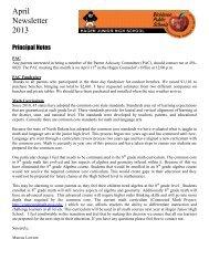 April Newsletter 2013 - Dickinson Public Schools