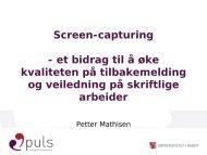 Screen-capturing - Norgesuniversitetet