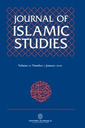 Front Matter (PDF) - Journal of Islamic Studies