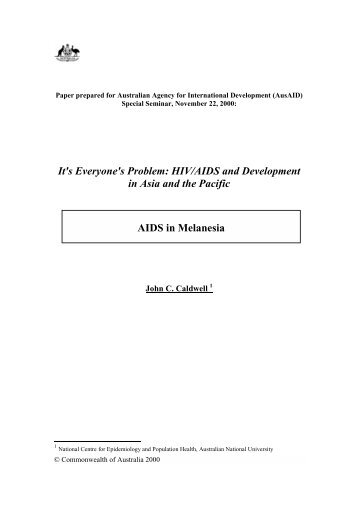 AIDS in Melanesia - hivpolicy.org