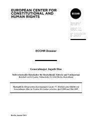 ECCHR Dossier Generalmajor Jagath Dias - Medico International
