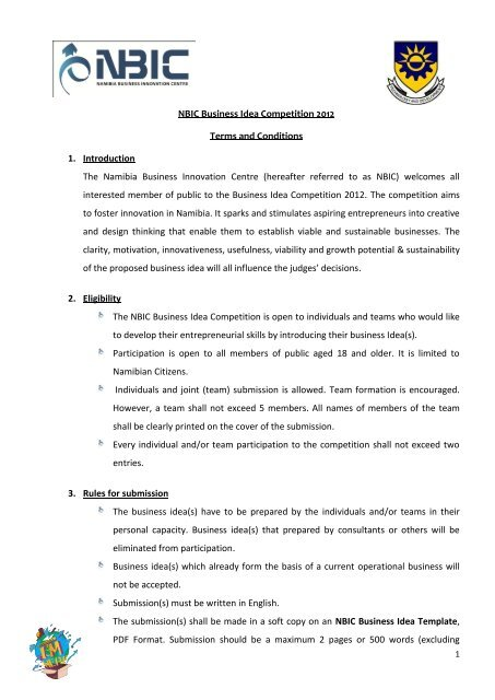 nbic business plan competition