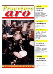 Tambourinaire e Musician prouvençau Ges de ... - Aix-Marseille I