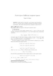 A new type of difference sequence spaces