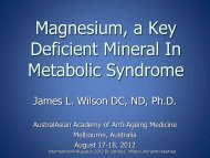 Magnesium in Metabolic Syndrome - Dr James Wilson