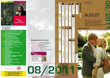 Sondertermine im August - Kinos Darmstadt