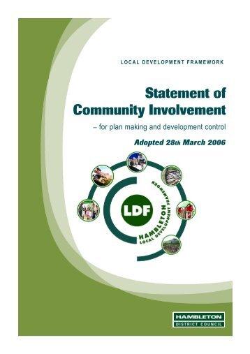 Statement of Community Involvement - Hambleton District Council