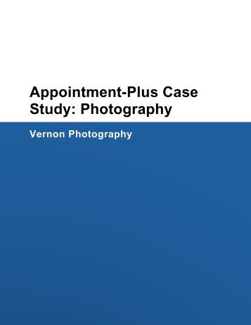 Appointment-Plus Case Study: Photography