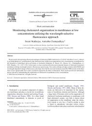 Monitoring cholesterol organization in membranes at low ...