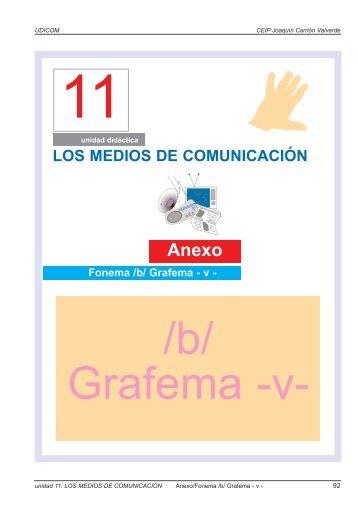 Fonema /b/ Grafema - v - Educarm