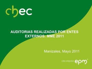 Ministerio de Minas y Energia 2011 - Chec