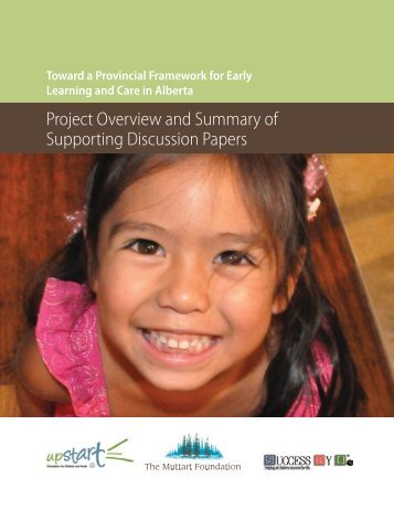 Toward a Provincial Framework for Early Learning and Care in Alberta