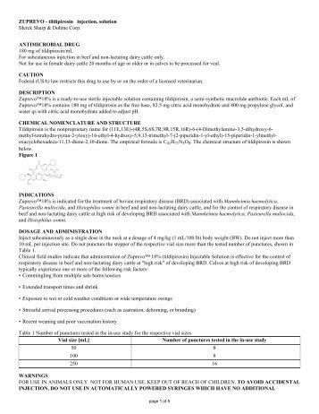 SPL - Veterinary Clinical Pharmacology
