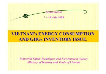 Vietnam's Energy Consumption and GHGs Inventory Issue [PDF ...