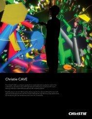 Christie CAVE Datasheet - Christie Digital Systems