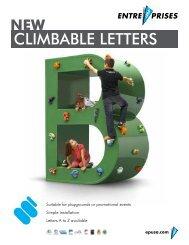 CLIMBABLE LETTERS - Entre Prises Climbing Walls