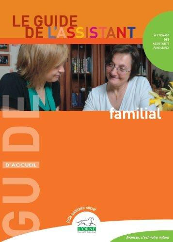 le guide de l'assistant familial - Conseil Général de l'Orne