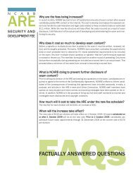 FACTUALLY ANSWERED QUESTIONS - NCARB