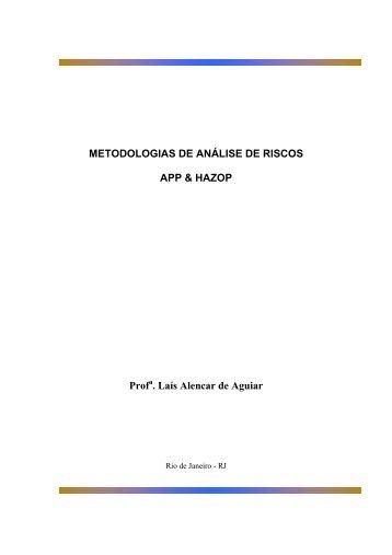 METODOLOGIAS DE ANÁLISE DE RISCOS APP & HAZOP Prof ...