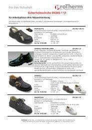 Schuhe nach S1 - ProTherm AG