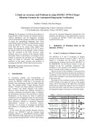 A Study on Accuracy and Problems in using ISO/IEC 19794-2 Finger ...